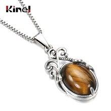 Kinel-collares de piedras naturales bohemias para mujer, Gargantilla de plata tibetana para fiesta en la playa, colgante de novia india, joyería de boda 2020
