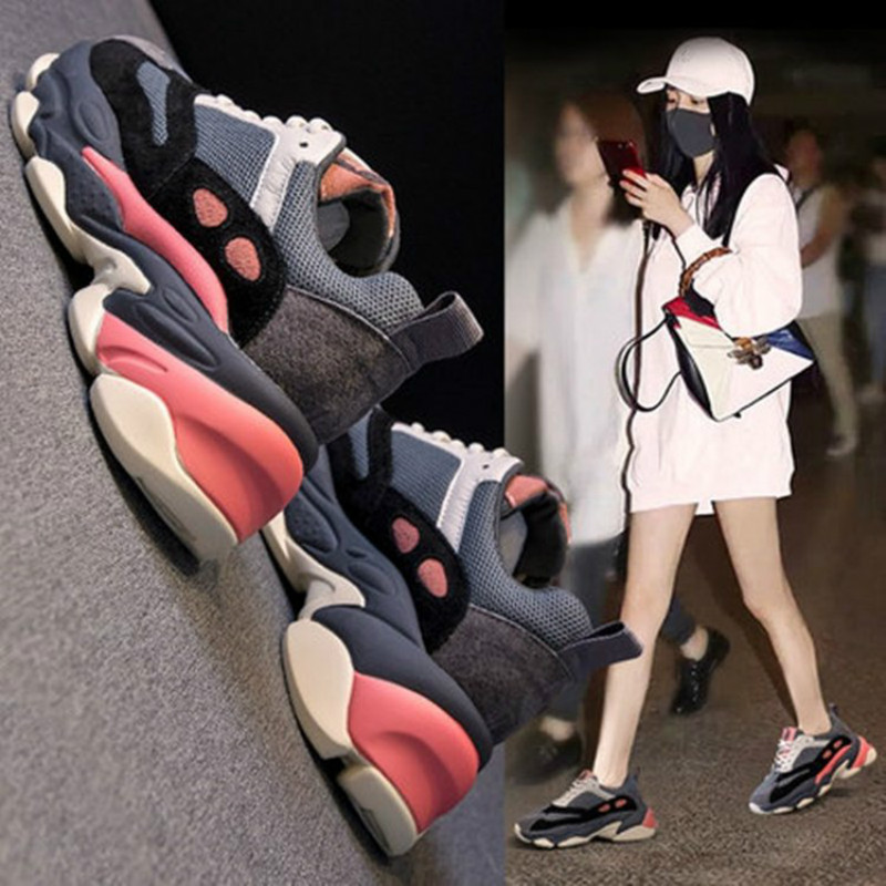Image 5 - SWYIVY Casual Shoes Woman Platform Sneakers 2020 Spring New Female Wedges Sneakers Comfortable Chunky Shoes For Woman SneakerWomens Vulcanize Shoes   -