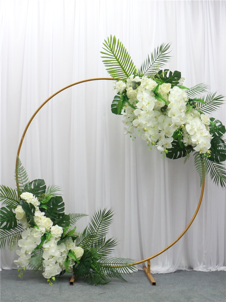 Ring-Arch-Door-Decor Flower-Row Celebration Wrought-Iron Round Artificial 200cm Wedding-Photography