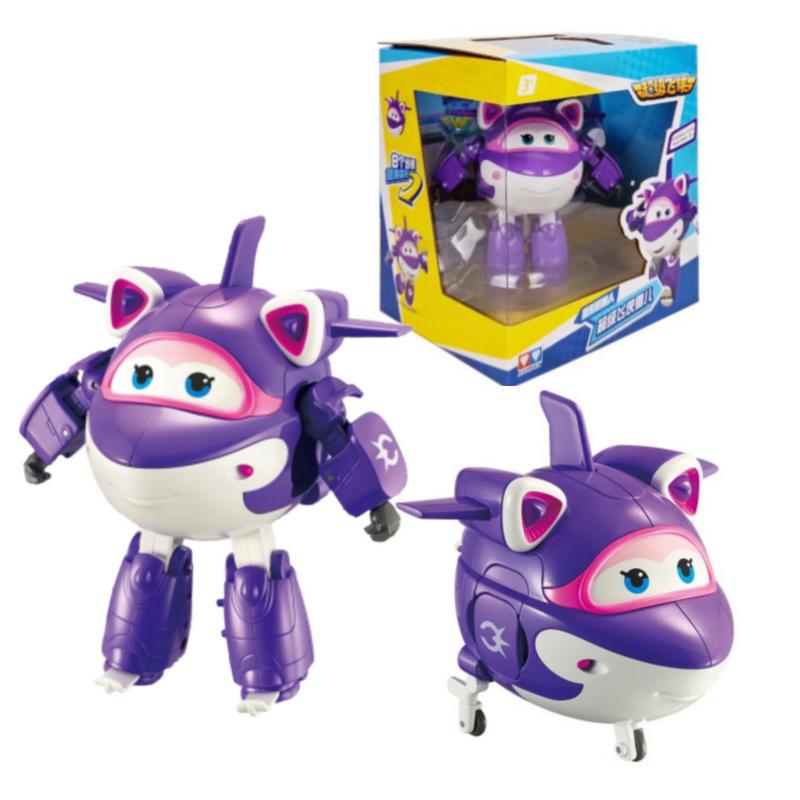 14 см ABS Супер Крылья самолет деформация робот фигурки суперкрылья мультфильм игрушки для детей подарок игрушки