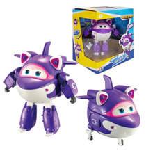 14cm abs super asas avião deformação robô figuras de ação superwings brinquedos dos desenhos animados para crianças presente brinquedos