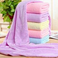 Впитывающее банное полотенце из микрофибры, 70x140 см, мягкое полотенце для душа, мягкая быстросохнущая мочалка