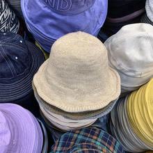 6 цветов однотонная Вязаная Шерстяная Панама женская шапка с