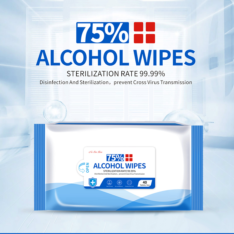 Disposable 75% Alcohol Disinfectant Wipes 40pcs/bag Wet Wipes Anti-bacteria Cleaning Sterilization Wipes Replace Hand Sanitizer