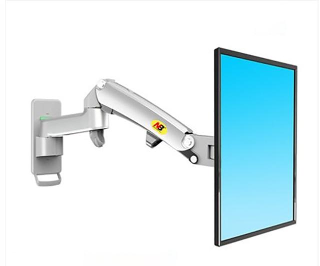"""NB F150 ze stopu aluminium 360 stopni 17 """"-27"""" uchwyt monitora sprężyna gazowa ramię LCD LED TV do montażu na ścianie ładowanie 2-7kgs"""