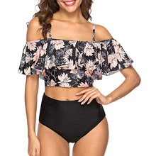 2020 seksowne Bikini Lady Push up strój kąpielowy bandaż Bikini Set brazylia lato plaża strój kąpielowy Bikini damskie drukuj CB