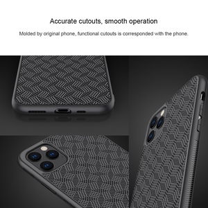 Image 5 - For iPhone 11 Pro Max Case NILLKIN plaid Synthetic Fiber Carbon PP Plastic Phone Case for iPhone 11 Pro 5.8/6.1/6.5 inch cover
