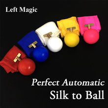 Perfect Automatic Silk to Ball (5 Colors Available) Magic Tricks Magician Stage Illusion Gimmick Prop Metalism New version Magia