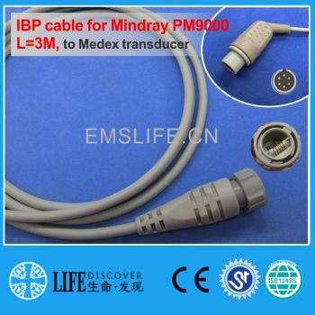 Mindray MEC2000 PM series IBP cable for Medex disposable pressure transducer image