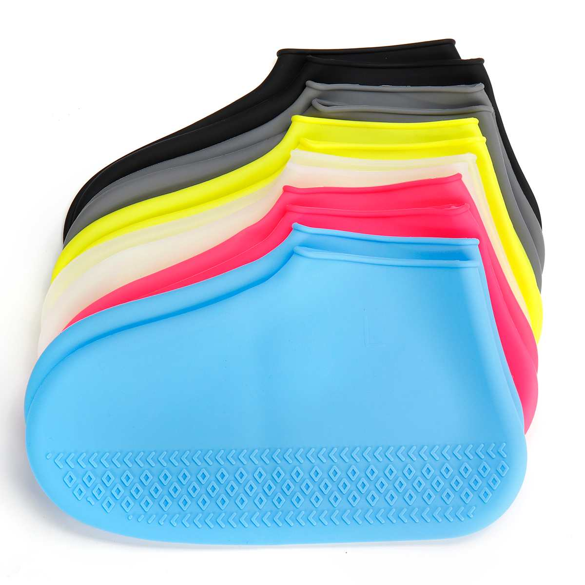 1 Pair Reusable Silicone Shoe Cover L Waterproof Rain Shoes Covers Outdoor Camping Slip-resistant Rubber Rain Boot Overshoes