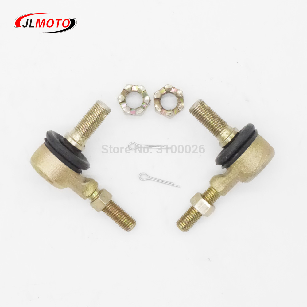 1 Pair M12-M10 Left & Right Hand Thread Steering Tie Rod Ends Kit Fit For China UTV Go Golf Kart Buggy Bike Karting Parts