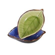 Japanese Style Multi-Functional Vinegar Sauce Dish Creative Fruit Plate Kitchen Utensils Ceramic Small Snack Tray