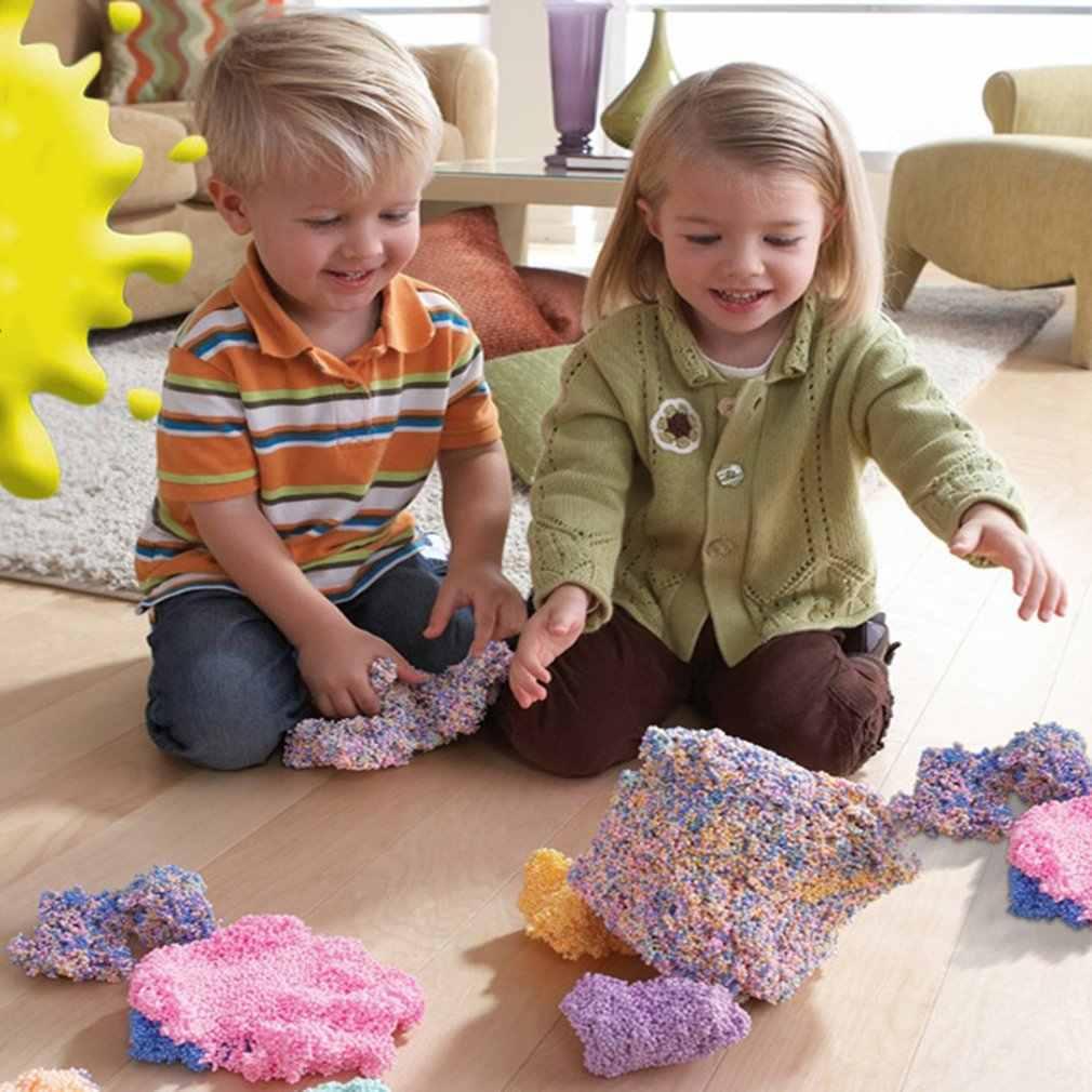 雪泥ふわふわ Floam スライム抗ストレスおもちゃ DIY スノーフレークモデリング粘土汚泥泥おもちゃライト粘土早期学習教育玩具