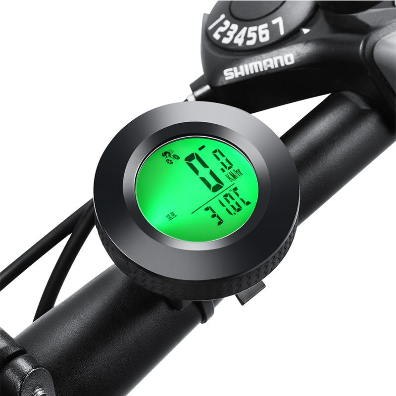 led back light WIRED cycling Computer Speedometer road <font><b>bike</b></font> velocimetro <font><b>power</b></font> speed <font><b>meter</b></font> English bicycle Computer Accessories image