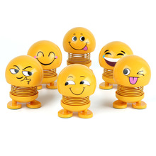 Toy Doll Pendant Package Decoration Moving-Head-Toy Spring Smiley Emojied Family New-Year