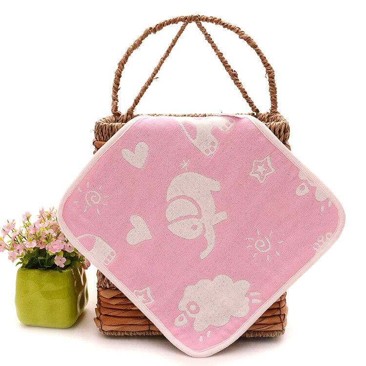 Купить с кэшбэком 3pcs/lot Infant  Face Towel Bibs 25*25cm Feeding Cotton Gauze Newborn Baby Square Towel Handkerchief Baby Face Towel 3pcs/lot