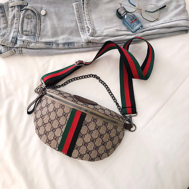 Women Waist Hip Packs Sport Wide Shoulder Strap Waist Bags Simple Print Coin Bag Festival Gift Wide Shoulder Waist Bags 2020 New