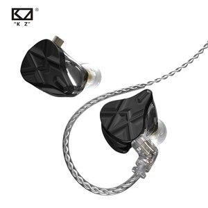 Image 2 - سماعات رأس KZ ASF 5BA 10 ذات محرك متوازن HIFI داخل الأذن مع شاشة DJ مع خاصية إلغاء الضوضاء KZ ZSX ZAX ASX SA08 AS16