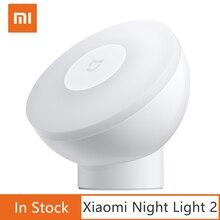 Nuovo Xiaomi Norma Mijia Ha Condotto La Luce di Notte di Induzione 2 Lampada Luminosità Regolabile Intelligente A Infrarossi sensore del corpo Umano con base Magnetica
