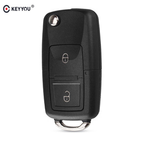 KEYYOU 2 Buttons Remote Flip Folding Car Key Shell for VW Volkswagen MK4 Bora Golf 4 5 6 Passat Polo Bora Touran(China)