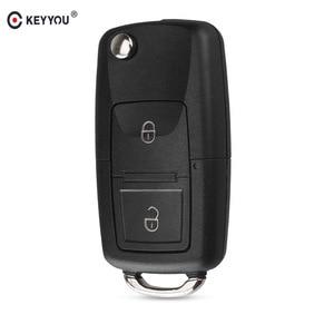 Image 1 - KEYYOU 2 Buttons Remote Flip Folding Car Key Shell for VW Volkswagen MK4 Bora Golf 4 5 6 Passat Polo Bora Touran