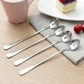 Чайная ложка с длинной ручкой в Корейском стиле, чайная ложка из нержавеющей стали, десертная чайная ложка для мороженого, кухонные домашни...