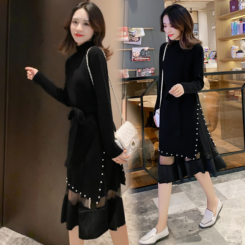 Two Piece Casual Korean Vintage A-line Knit Women's Sets