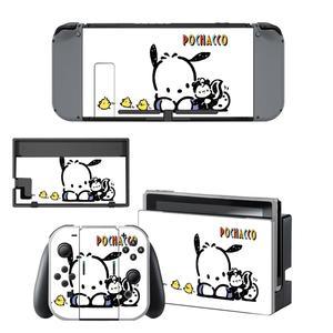 Image 4 - Vinil ekran cilt Pochacco köpek koruyucu çıkartmalar Nintendo anahtarı NS konsolu için + Joy con denetleyici + standı tutucu skins