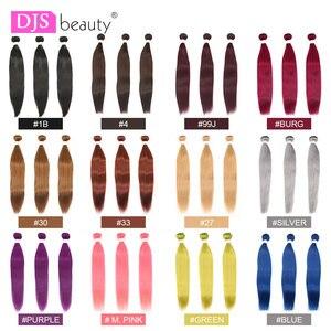 Предварительно окрашенные человеческие пряди волос, натуральный цвет/99j/бордовый/зеленый/фиолетовый, бразильские вплетаемые пряди волос, п...