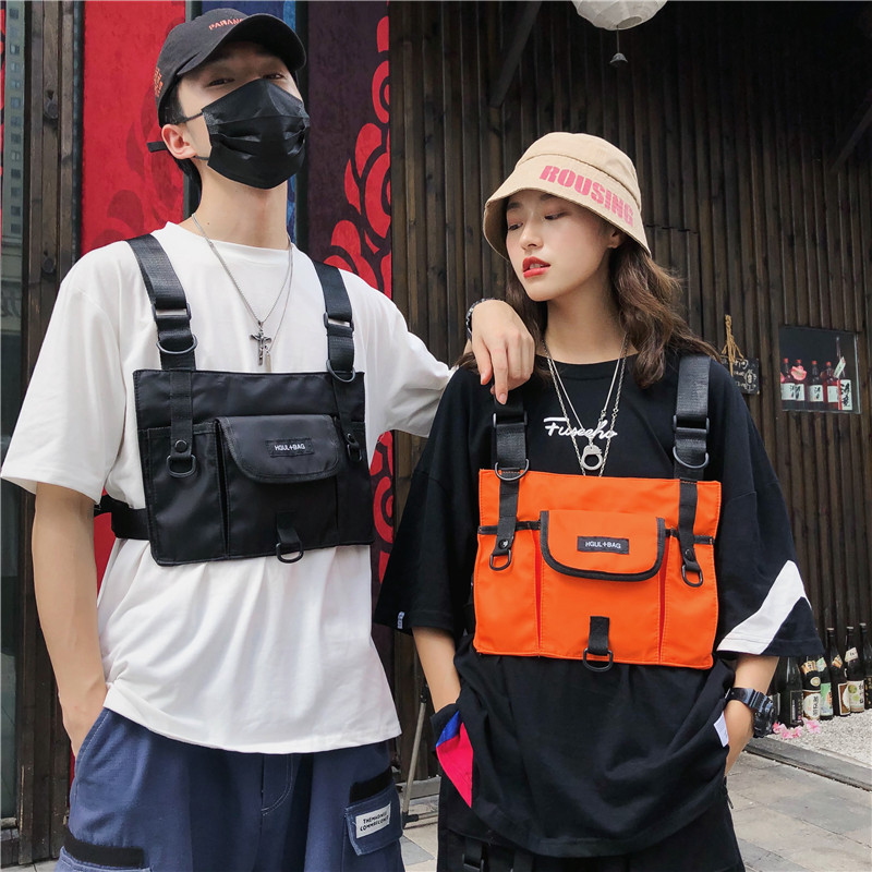 BD-7095 New Fashion Male And Female Couples Chest Pack Convex Shape Function Wind Tactical Vest Bag Bulletproof Backpack