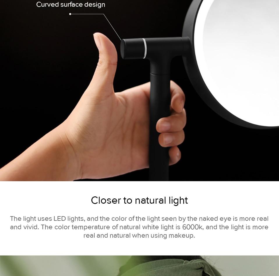 de rotação desktop espelho cosmético com função