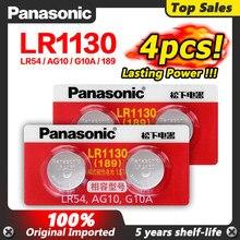 Panasonic – lot de 4 piles boutons 1.5V, AG10, LR1130, LR, 1130, alcalines, AG10, 389, LR54, SR54, SR1130W, 189