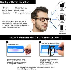 Image 4 - OCCI CHIARI okulary do czytania mężczyźni blokujące niebieskie światło okulary do czytania kobiety TR90 prezbiopia okulary komputerowe + 1.5 + 2.0 + 2.5 do + 4.0