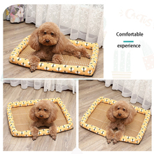 Summer Cooling Pet Dog Mat Ice Pad Dog Sleeping Mats For Dogs Cats Pet Kennel Top Quality Cool Cold Silk Bed For Dog summer dog cooling mats cat blanket ice pet dog bed mats for dogs cats sofa portable tour camping yoga sleeping pet accessories
