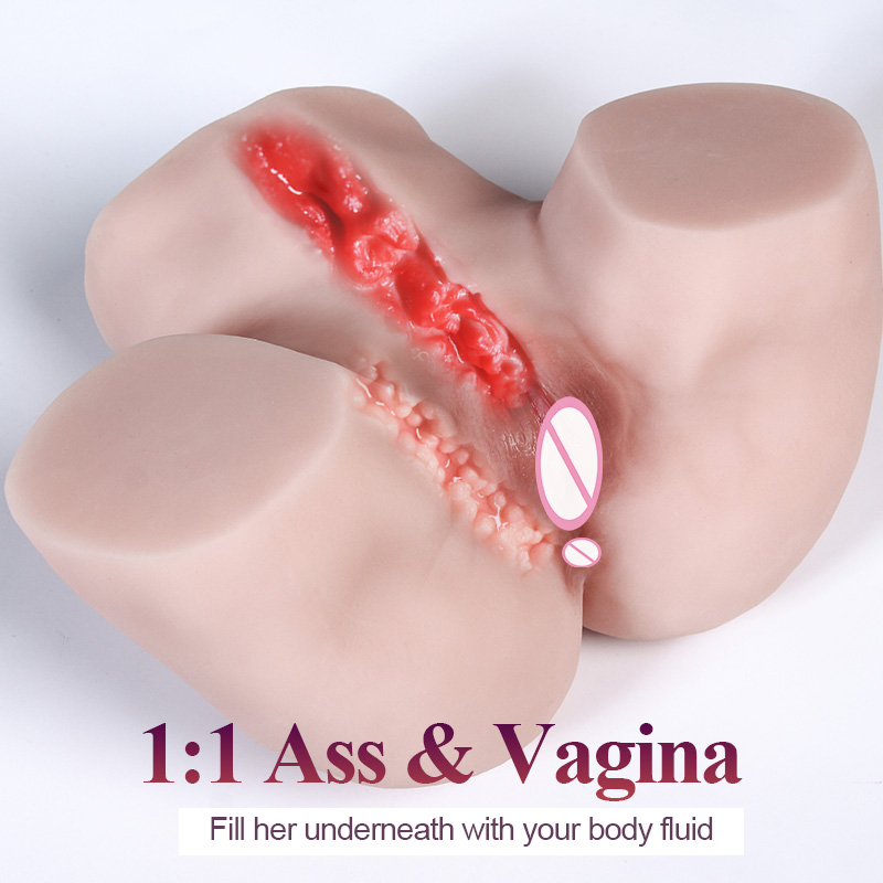 Искусственная вагина Мужской мастурбатор в форме попки карманная киска Реалистичная мягкая силиконовая глубокое горло половой жизни взро...