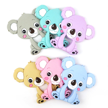 Dinosuar Toy-Accessories Pendant Necklace Baby Teethers Silicone Beads Bpa-Free Koala