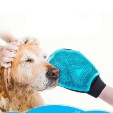 Silicone Dog Pet brush Glove Deshedding Gentle Efficient Pet Grooming Glove Dog Bath Cat Cleaning Supplies Pet Glove Dog Combs P cat grooming glove mascot pet hair glove removal brush mitts deshedding brush combs cat dog combs supplies bath cleaning massage