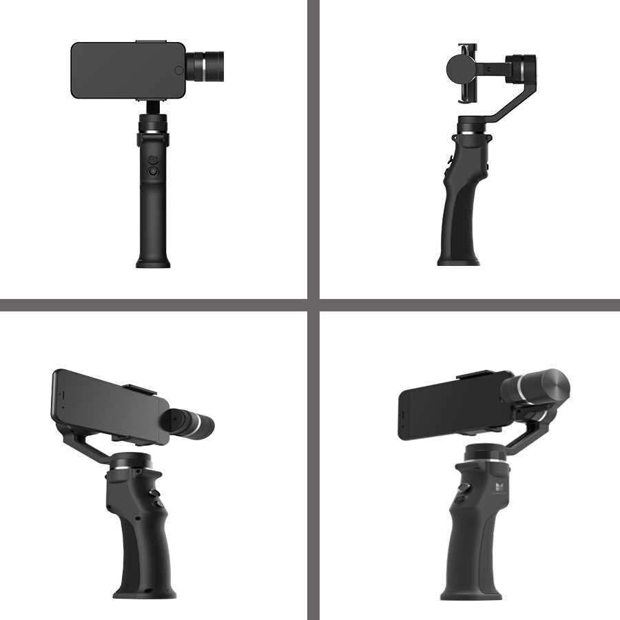 Funsnap 3-осевой стабилизатор 3 комбо ручной смартфон Gimbal стабилизатор для iPhone GoPro 7 6 5 sjcam EKEN Yi Экшн-камера