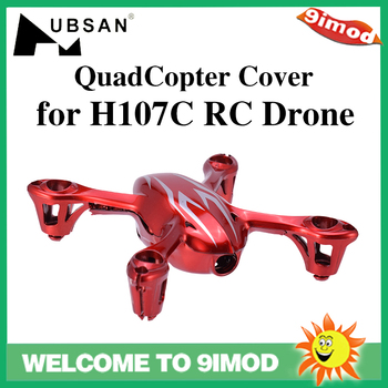 цена на Hubsan H107 Body Shell QuadCopter Head and Motors Cover for H107C Mini RC Drone Spare Parts Accessories Black/Red