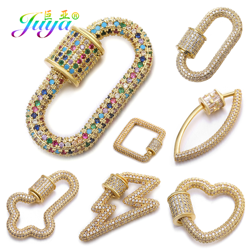 Juya DIY Punk Jewelry Making Supplies Handmade 7 Styles Copper Material Screw Clasps Pendants Accessories For Necklace Hand Made