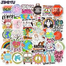50 Uds paz y amor pegatinas estética Graffiti etiqueta engomada estilo Hippie en el ordenador portátil monopatín maleta papelería bicicleta de vinilo pegatina infantil