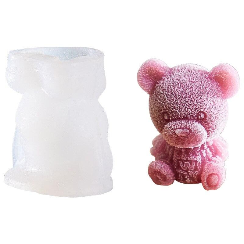Explosive Bear Ice Cube Ball Ice Bear Abrasives Creative Ice Coffee Milk Tea Chocolate Ice Sculpture Silicone Mold Champagne
