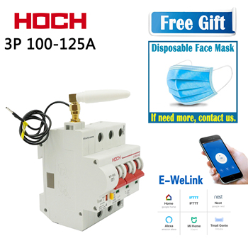 HOCH ZJSB9-80Z WIFI Circuit Breaker 3P ewelink Remote Control timer smart Intelligent Wireless Switch Factory Free shipping