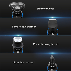 Men's 6D Electric Shaver Razor Mens Rotary Beard Trimmer Nose Hair Trimmer Face Cleaning Brush 4 In 1 Hair Shaving Machine 49