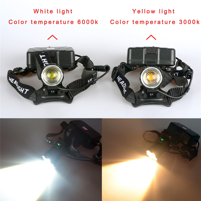 Image 3 - 100000LM XHP70.3 LED most powerful Headlamps Heavy foggy snowy work light  XHP70.2 headlights torch ZOOM use 3x18650 Battery-in Headlamps from Lights & Lighting