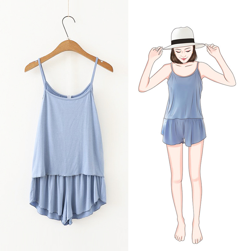 2019 Summer New Style Plus-sized 180 Camisole Shorts Set Fat Mm Pajamas Two-Piece Set
