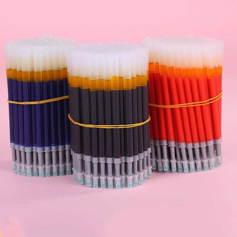 50Pcs/set Press <font><b>Gel</b></font> <font><b>Pen</b></font> <font><b>Refills</b></font> <font><b>0.5mm</b></font> Blue/Black/Dark/Blue And Red Ink Rod For Student Stationery Writing Push Type <font><b>Gel</b></font> <font><b>Pens</b></font> image