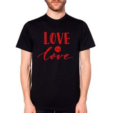 Triditya ht0291# love is футболка мужская майка черная футболкамужская
