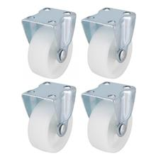 4Pcs/set 2.5 Inch Fixed Caster PP Castor Wheel for Trolley Furniture цена