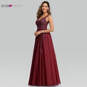 Image 2 - Elegant Prom Dresses Long Ever Pretty A Line Double V Neck Lace Appliques Formal Evening Party Gowns Vestidos Formatura Longo
